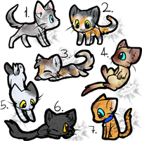 Kitty adopts Batch 1 (10 points each) 5/7 open by Tygerlander