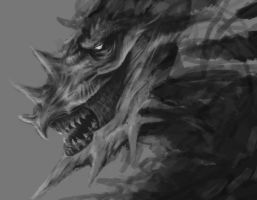 Undead Dragon WIP by Erzdaemon
