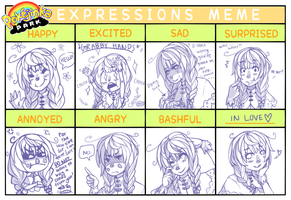 PKJP: Expressions Meme - CiCi by morningdreams