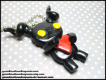 Happy Heartless Necklace by GrandmaThunderpants