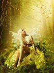 GREEN FAIRY by AngeliaArt
