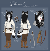 Eternal reference sheet by SnowSnow11