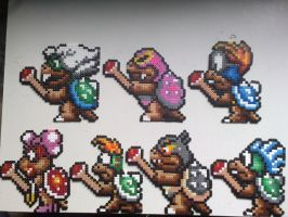 Perler beads Koopalings by nick3529
