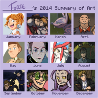Meme: 2014 Summary of Art by forte-girl7