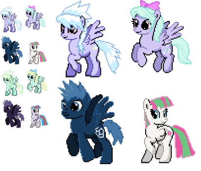 Ponymon : CloudChaser Flitter and others by DMN666