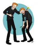 Laughing Weasley Twins by xxiiCoko
