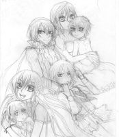 sketch vampire knight by lyofar