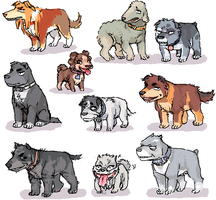 Rest of Kaiji dogs by emlan