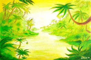 Cartoonschool: Jungle river by Holly-Toadstool