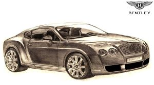 Bentley Continental GT Drawing by toyonda