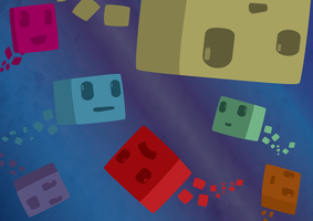 Cubes in Space by Noxington