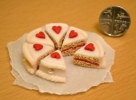 Valentine Cake Charms by raven1987
