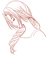 aerith lineart by currybread