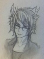 Male Vriska Sketch by SignlessVantas69