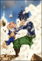 Natsu and Grey (Fairy Tail, chapter 411) by iPhenixia