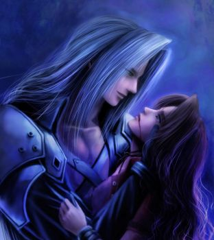 aerith's death y sephiroth by pili96