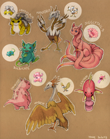 Pokemon fusion by Yonetee