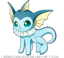 Vaporeon Icon by RebeccaAlexa