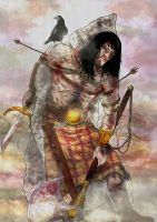 The Sick Bed of CuChulainn by babygorilla