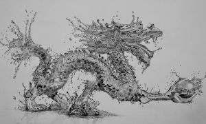 Water Dragon (Pencil) by Paul-Shanghai