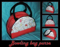Bowling bag purse by black-lupin