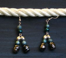 Tricolored Earrings by LadyTal