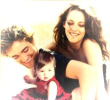 Edward,Bella and baby Nessie by NENEnewby