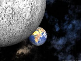 The Earth viewed from the Moon by swarfega