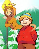 kenny's spirit in cartman by hakurinn0215