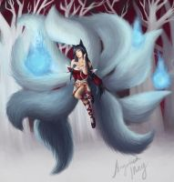 Ahri from League of Legends by FATALxFRAME
