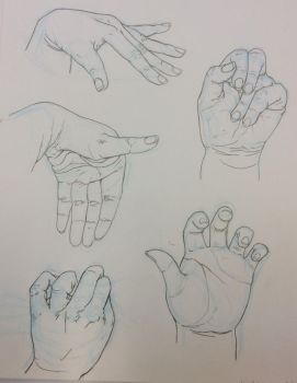 5 Hand drawings by Mia-Oneill