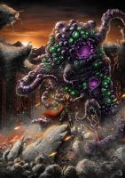 Dawning Shoggoth by PeterSiedlArt