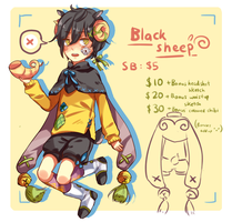 AUCTION: Black Sheep [CLOSED] by chiaroleaf