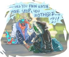 MU in which sulley runs into someone in the street by makiyan