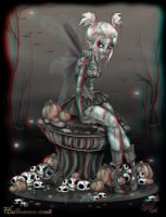 Zombie Tinkerbell 3-D conversion by MVRamsey
