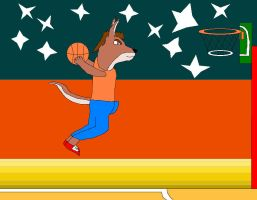 Kangaroo Slam Dunk by SuperdragonFeuragon