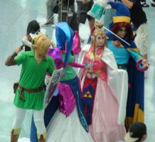 Link, Zelda, Veran, and Ralph at Anime Expo 2013 by trivto