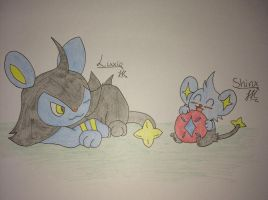 Luxio and Shinx by ThunderJess