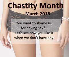 Chastity Month 2015 by LogicalWomen