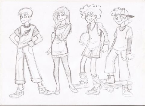 Cartoon teenagers by RikuGloomy
