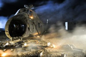 Downed Helo by Illuminette