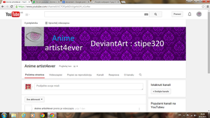 I'm on youtube - Anime artist4ever by stipe320