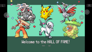 My Pokemon Emerald Hall of Fame by tanlisette