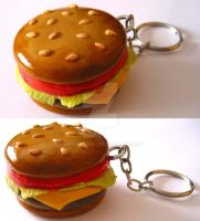 Burguer Keychain by cherryboop