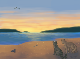 Seaside Sunset by xLuvyna
