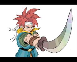 Crono lineart colored by Choco-Chick87