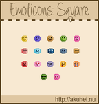 Free Emoticons: Squares by tehmiminator