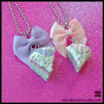 Pastel Rainbow Cake Necklaces by BloodCross