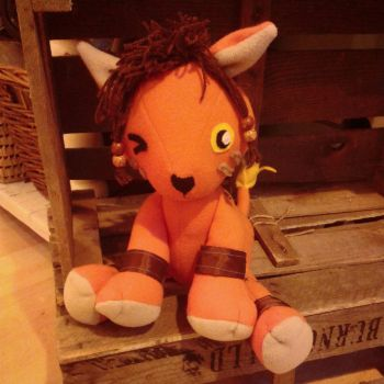 Red XIII Nanaki Commission order plush by BigMamaBear