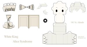 Alice Syndrome Papercraft - White King by Larry-San